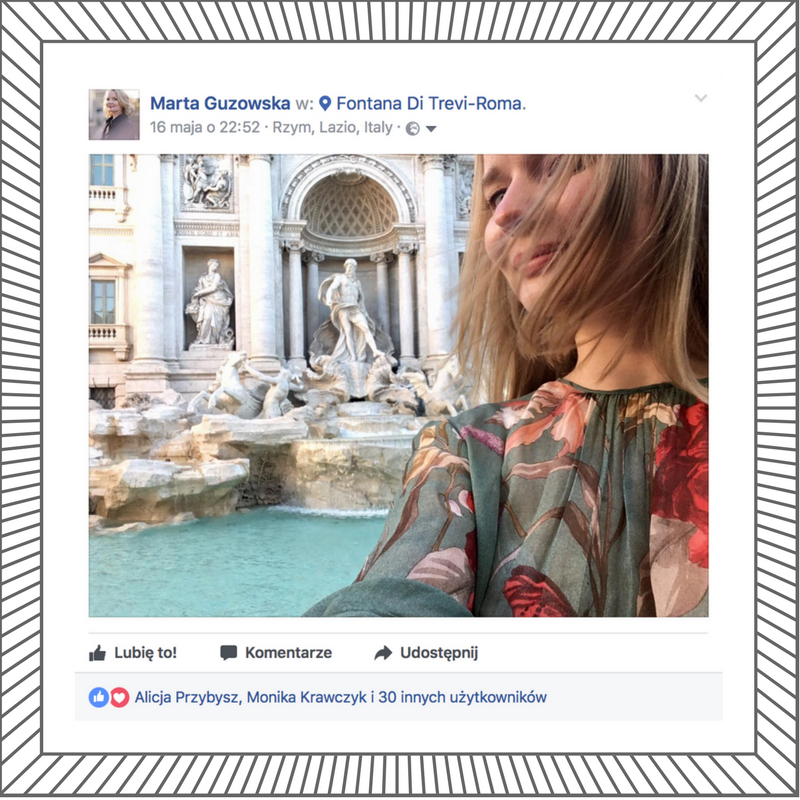 Marta Guzowska_look of the day_floral dress_rome travel diary_10_ditrevi_selfie